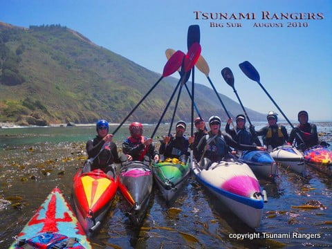 Tsunami Rangers do the obligatory paddle salute