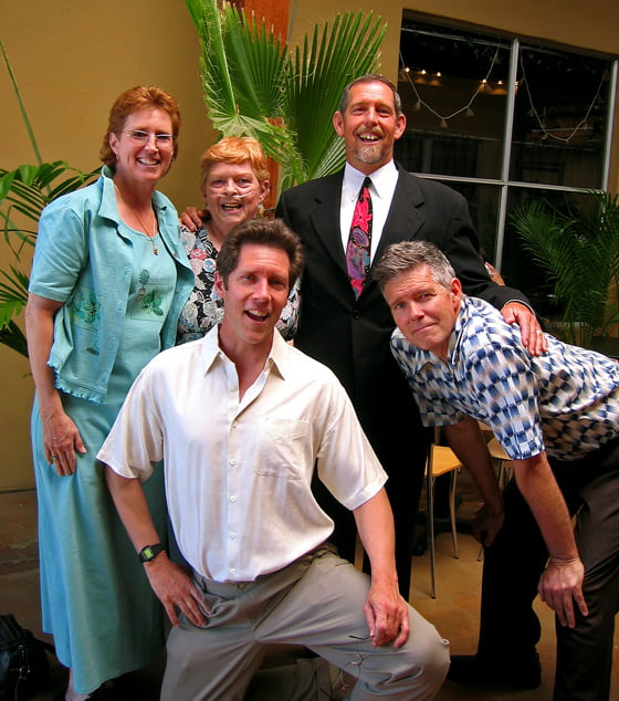 Eric with his sister Camille, mother Mozelle, and brothers John and Marc at his daughter Micaila's wedding in 2007.