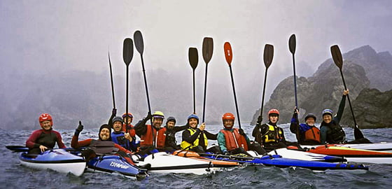 The Tsunami Rangers on an Oregon coast expedition. Eric is second from left, and his wife Nancy is right beside him.