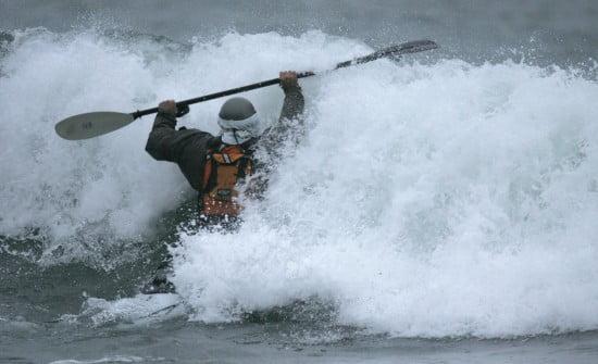 Paul McHugh enters the surf at Mattole