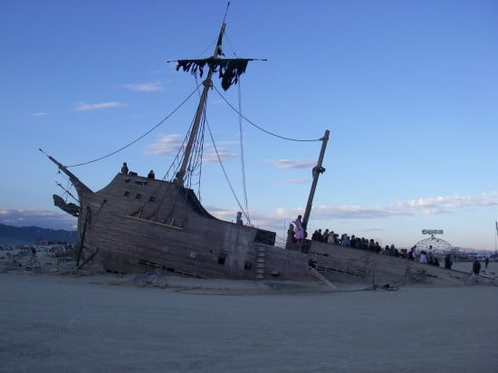 And yes, there were ships and all kinds of boats there, some of which even moved across the playa on wheels