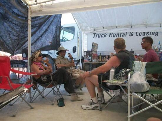 In camp