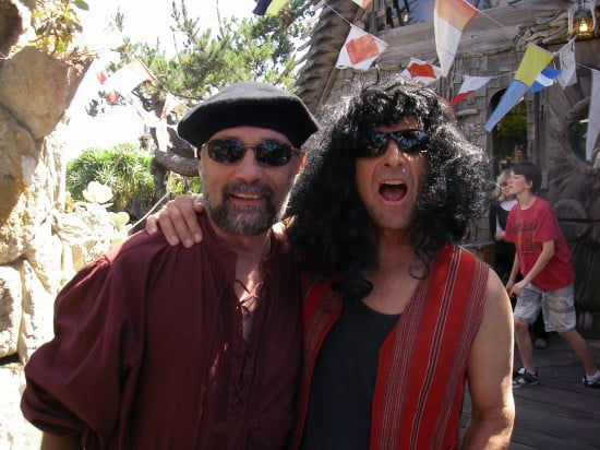 Captain Jim Kakuk and Honorary Tsunami Ranger Kenny Howell - pirate costume or a really bad wig!