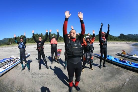 The Tsunami Rangers salute the sea on retreat in 2008