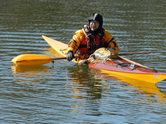 Field-testing a paddle-float rescue in 42F water.