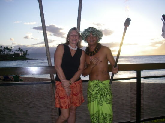 A barefoot warrior protector in a traditional sarong...