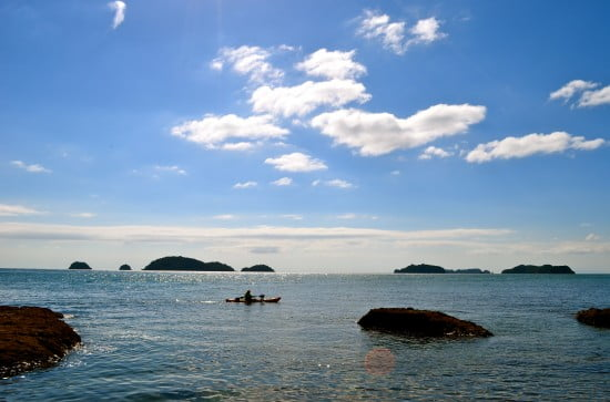 Travelling the islands by paddle craft, Coromandel, NZ