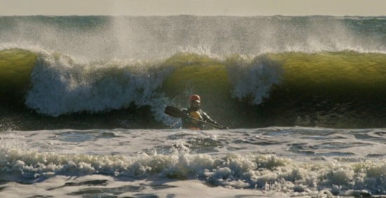 Me in the X-15 at the R.I.S.K. session (Rhode Island Surf Kayakers), 02DEC2006