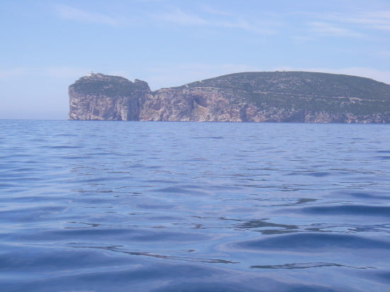 Kayak day 2 - Capo Caccia, an enormous limestone headland in the distance