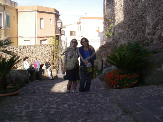 Barbara and me at Castelsardo