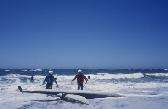 Tsunami Rangers make mistakes too - Jim and Eric at the Sea Gypsy Race on Miramar Beach