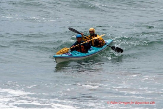 Tsunami Ranger Michael Powers and his Norwegian paddling partner Sidsel came in third!