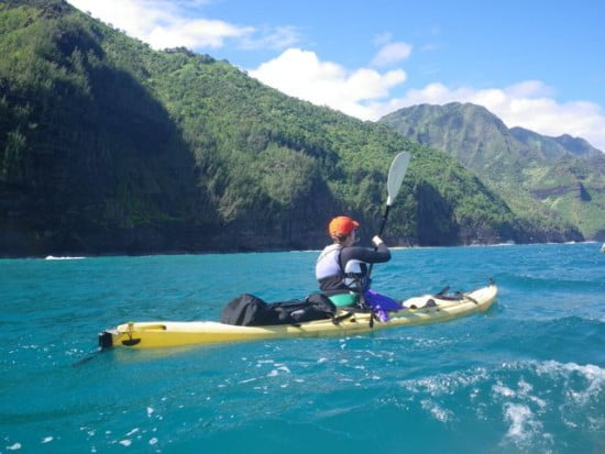 Lena King after leaving Kee' beach en route to Kalalau.