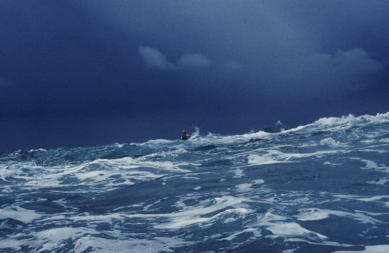 Rangers in storm seas