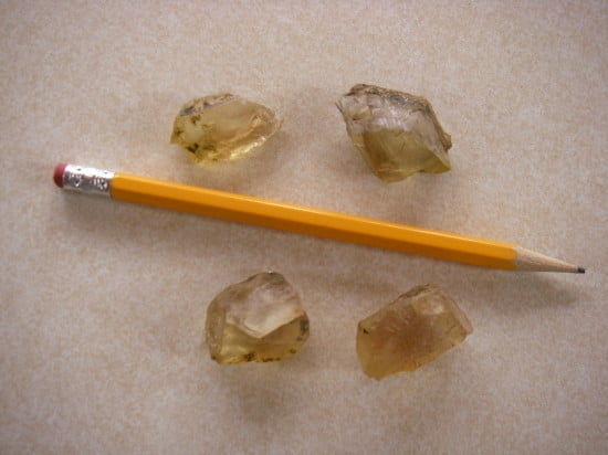 We found sun stones, a type of citrine