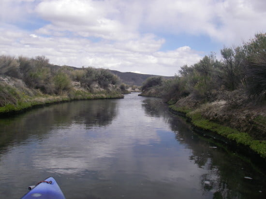 Up a hot creek with a sea kayak
