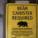 Bear cans are available at the BLM office on the way into Shelter Cove