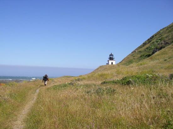 Passing ruined Punta Gorda lighthouse