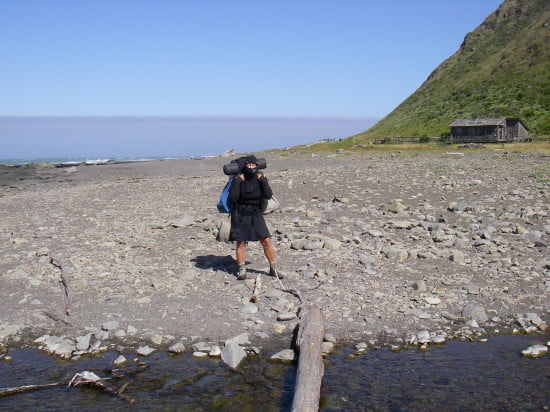 Ninja backpacker - thanks Barbara Kossy for the top - it was great in the wind!