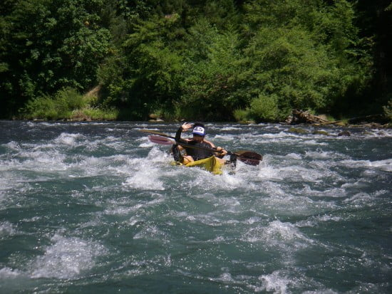 We salvaged an old inflatable double and went down the Rogue River