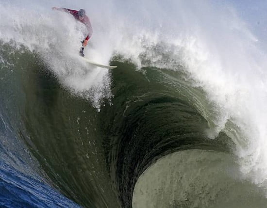 Mavericks, 2010. It would be safe to say that body surfing here would probably be a bad idea.