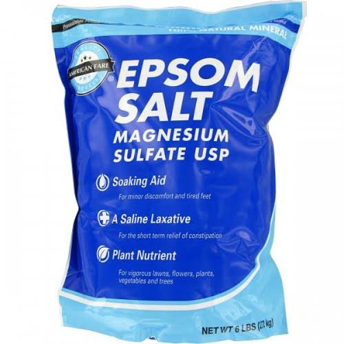 Epsom salt - the kayaker's friend