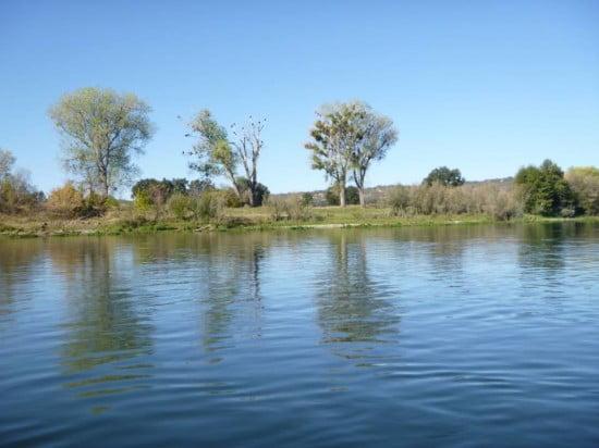 an unspoilt riverside view
