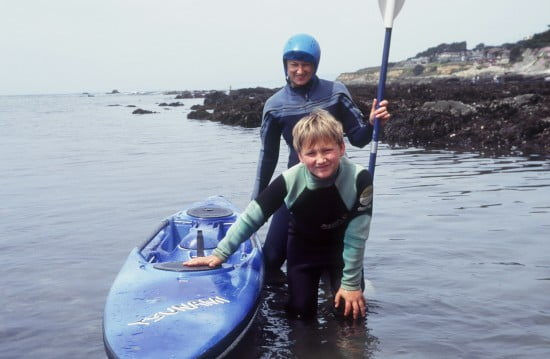 Me and my son Nick in 1996 at Fitzgerald Marine Reserve, just south of Sniveler's