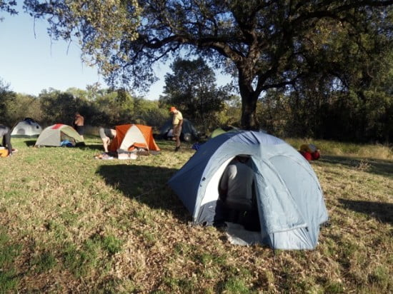 Or this - camping under the river oaks