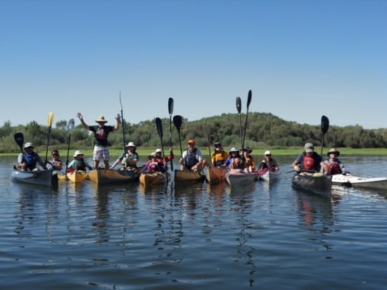 Paddling the Sacramento River - the group photo