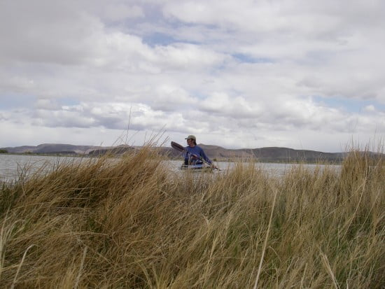 Rebekah takes a turn on the lake