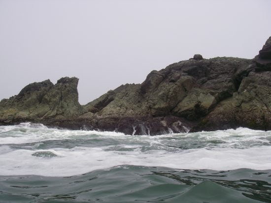 One of the many rocks surrounding the island