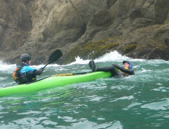 "Cate firmly disciplines Scott's unruly ""panicked paddler"" and rescues him in spite of himself."