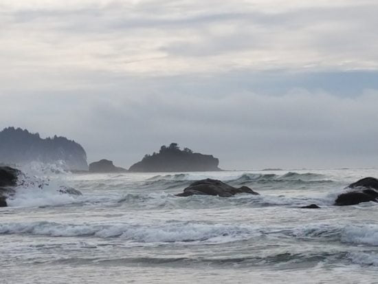 Sea stacks to the south