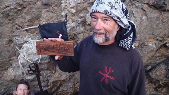 Capt. Kuk received a wooden name plate hand cut by TR Michael Powers and inscribed with his rank and name.