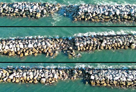 Damage to the breakwater caused by continuous wave action presents ongoing challenges to the Long Beach breakwater