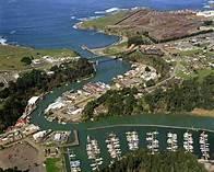 Noyo Harbor on a calm day