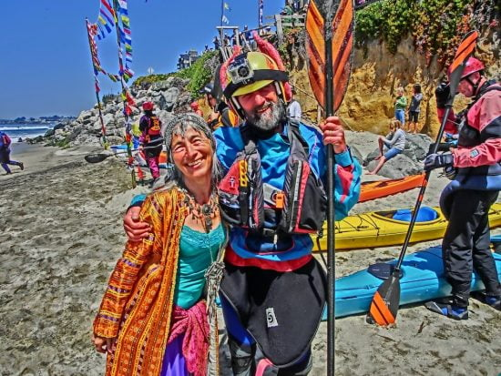 Michael and his lovely wife Nani at the Sea Gypsy race in 2011. Photo by Bob Stende