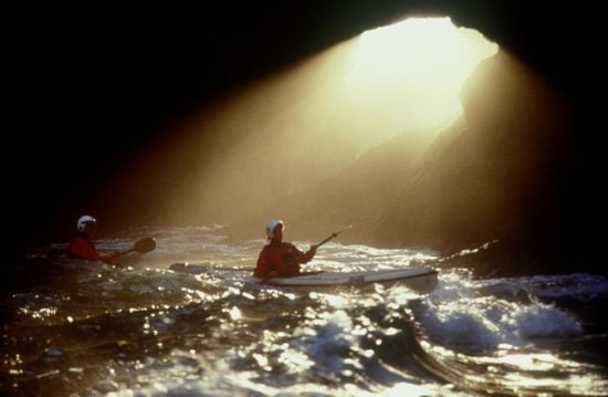 Cathedral Cave: Deb in God Rays. Smooth in all conditions, with TR John Lull on retreat in Oregon.