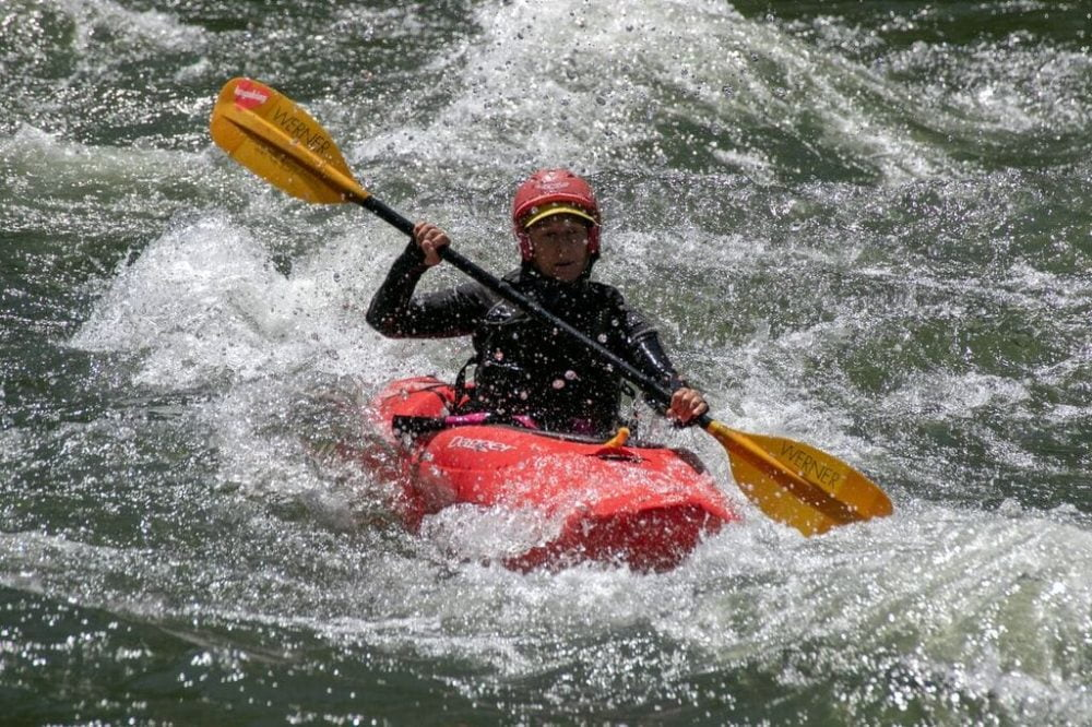 I have no conventional certification in whitewater kayaking, or sea kayaking either, but her I am navigating Argo on the Rogue River in 2018