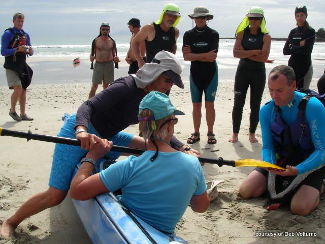 Deb Volturno teaches a surf class