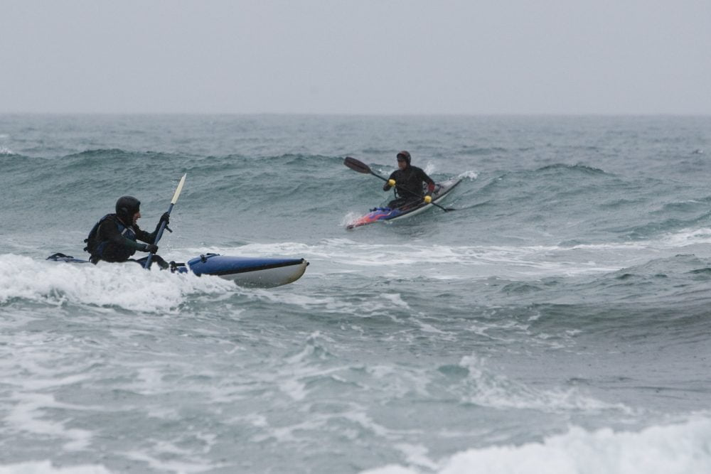 Steve and Eric in surf in 2007