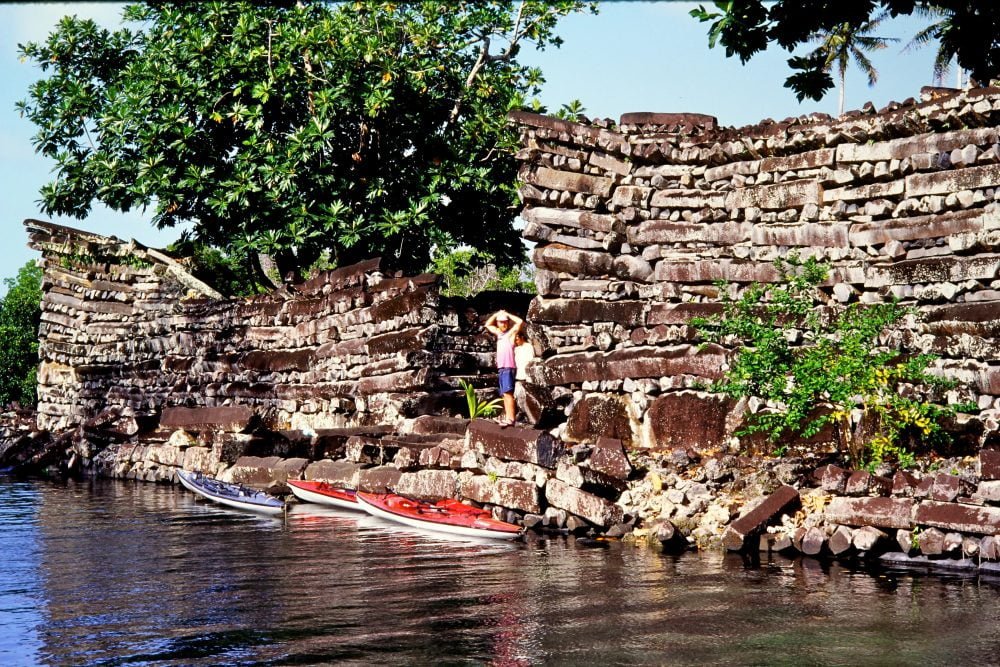 The mysterious ruins of Nan Madol in Pohnpei