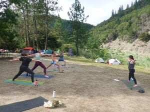 Our post paddle yoga classes were led by instructor Kate O'Brian