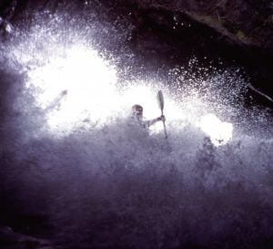 A wave in a cave