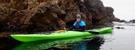 Cate in her trusty sea kayak