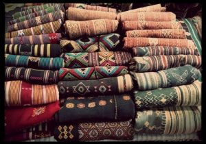 Traditional hand woven olus