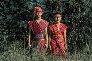 Toba Batak couple in traditional clothes
