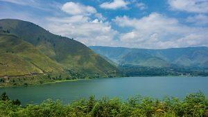 Lake Toba and a view of Samosir Island