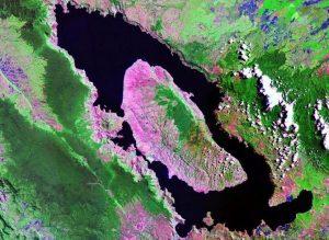 Lake Toba and Samosir Island seen from space courtesy of NASA